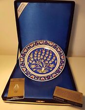 Kütahya Porselen Plate porcelain handmade traditional Ottoman motifs turkish