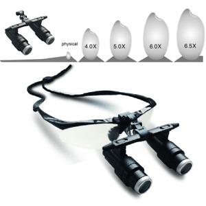 4.0X/5.0X/6.5X 420mm Dental Medical Binocular Loupes Surgical Magnifier Glasses
