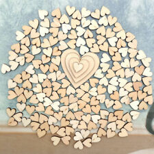 100x 6/8/10/12mm Mixed Rustic Wooden Love Heart Wedding Table Scatter Decoration
