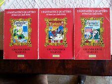 Fantastici Quattro Grandi Eroi marvel lotto n.1,2,3,volumi comic art brossurati