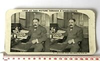 1 ROEBUCK & CO MR SEARS PRESIDENT AT HIS DESK Antique SEPIA Victorian Stereoview