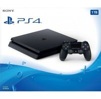 PS4 CONSOLE 1TB SLIM BLACK PLAYSTATION 4 SONY SOTTOCOSTO