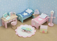 CHILD'S BEDROOM/ NURSERY -DOLLS HOUSE FURNITURE-  LE TOY VAN DAISYLANE