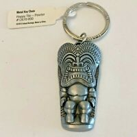 Tiki Pewter Key Chain Hawaii Happy Tiki Island Heritage NWT