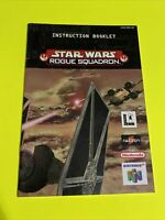 STAR WARS ROGUE SQUADRON Instruction Booklet Manual Book Original Nintendo N64