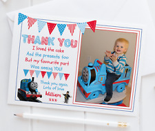 10 Personalised Thomas The Tank Engine Thank You Cards PHOTO