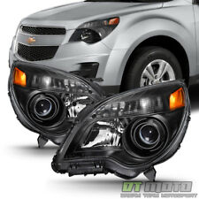 Black 2010-2015 Chevy Equinox Halogen Model Projector Headlights Headlamps 10-15