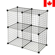 New Metal Wire Shelving Unit Closet Storage Rack 4 Cube Bookcase Organizer Shelf