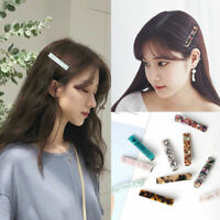 Fashion Acrylic Natural Texture Duckbill Clip Side Hair Clips Metal Hairpin Gift