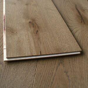 """10"""" Wide & 2.3m Long Board Light Brown Brushed UV Oil Engineered Oak Floor EC22"""