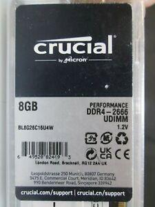 Crucial Ballistix 2666 MHz DDR4 DRAM Desktop Gaming Memory 8GB CL16 BL8G26C16U4W