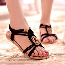 Damas sandles Flip Flops Sandalias señoras de Boho Tangas de playa de verano