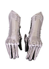 Gauntlets Pair 18 G Stitched to Glove Medieval LARP Reenactment Armour