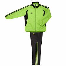Adidas Men Woven Training Suit/Uniform/Wind Breaker Jacket+Pants/Lime