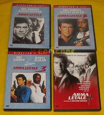 ARMA LETALE DIRECTOR'S CUT 1 2 3 + ARMA LETALE 4 (Mel Gibson) Dvd »»»»» USATO