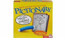 Pictionary Quick Draw Sketch Game With Markers & Erasable Boards NEW BOXED