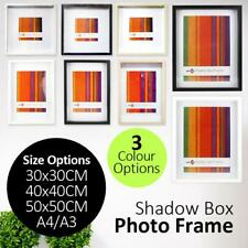 50x50 40x40 30x30 A4 A3 Shadow Box Photo Picture Poster Frame Matted Glass Hang