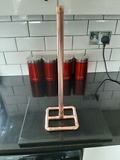COPPER PIPE  BATHROOM TOILET ROLL HOLDER / STAND