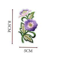 Flower Iron On Patch Purple Gold Motif Patches Applique Badges Fun 8.5X5 CM P122