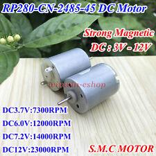 DC3V 5V 6V 12V 23000RPM High Speed Strong Magnetic Mini 280 DC Motor Toy Car DIY