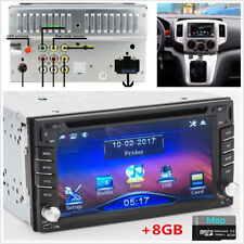 2Din 6.2'' GPS Navigation HD Car Stereo DVD CD FM Player Bluetooth Auto Radio