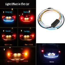 4 Color Flow Type LED Strip Tailgate Turning Signal Lights Bar Trunk Strips Bulb