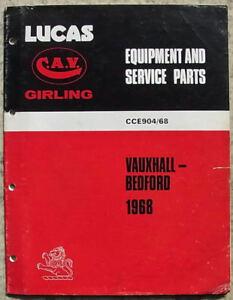 LUCAS VAUXHALL BEDFORD Spares List 1968 #904/68 Victor VIVA Cresta 2 LITRE GT ++