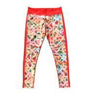 Adidas Climalite Floral Red Geometric Pants Womens Size Medium