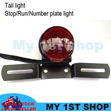 12V Round Tail Light Motorcycle Fender Eliminator License Plate Bracket Holder