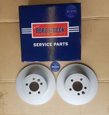 Pair of Rover 75 MG ZT Borg & Beck Rear Brake Disc BBD4228. REPLACES SDB000871