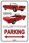 Parking Sign Metal MUSTANG CONVERTIBLE 1966 - 07 RED