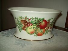 "Lenox ""Say It With Silk""Williamsburg Boxwood and Pine Compote Centerpiece"