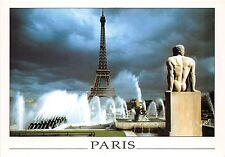 BR13393 Paris La Tour et les jeux d eau des Jardins du Palais de Challot  france