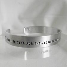 "Statement Cuff Bangle Lovely Handmade Personalised ""....DANCE in the rain"""