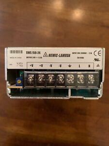 LAMBDA POWER SUPPLY SWS-150-24, 150 WATT, 24 VDC OUTPUT, ENCLOSED FRAME