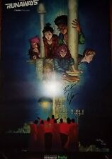 Brian K. Vaughan Signed NYCC New York Comic Con 2017 Runaways 13x20 Promo Poster