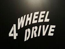 4 WHEEL DRIVE ** WILLYS DECAL ** JEEP CJ YJ TJ ** 4X4 MILITARY * SCOUT