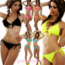 Bikini costume bagno TRIANGOLO frange due pezzi moda mare donna lacci B3089