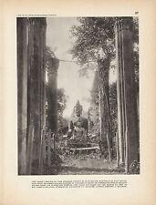 Document ancien Indochine 1930 Vien Tiane, capitale du Laos Français issue livre