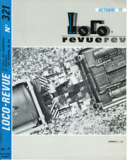 LOCO REVUE 321 DE 1971. WAGONS ET GRUE DE SECOURS SNCF