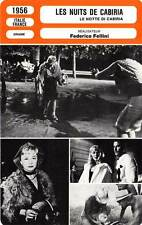 FICHE CINEMA : LES NUITS DE CABIRIA Masina,Périer,Fellini 1956 Nights of Cabiria