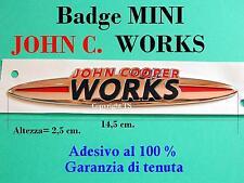 MINI COOPER S ONE PACEMAN JCW John Cooper Works Badge Stemma Fregio Emblema Logo