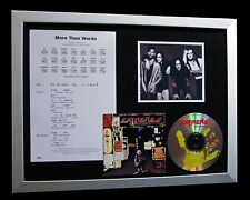 EXTREME More Than Words LTD TOP QUALITY CD FRAMED DISPLAY+EXPRESS GLOBAL SHIP