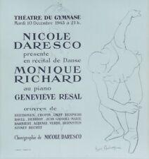 """""""NICOLE DARESCO / MONIQUE RICHARD"""" Affiche originale entoilée Litho AMBROGIANI"""