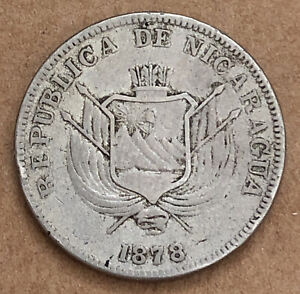 Nicaragua 1878 In Centavo Very Nice Coin LG