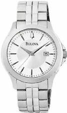 Bulova Stainless Steel Mens Quartz Watch 96B167