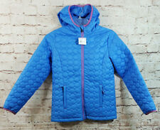 Lands End Primaloft Hybrid Puffy Jacket Girls Size Large 14 Blue NEW