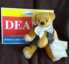 DEANS MOHAIR TEDDY BEAR - JOCK - TARTAN WAISTCOAT -  NO 7 OF 500 - NEW WITH TAGS