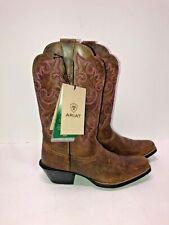 New! ARIAT 4LR  Brown/Pink Stitching Cowboy/Western Boots~Women's sz 6B
