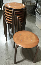 VINTAGE DANISH STEEL AND PLYWOOD STOOL HOME/ OFFICE/ CAFE